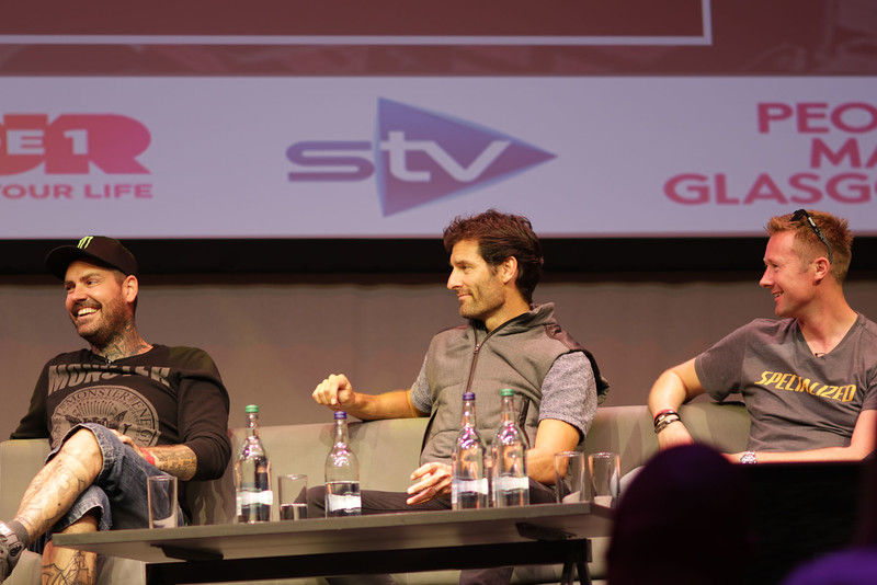 Shane Lynch, Mark Webber and Gordon Shedden