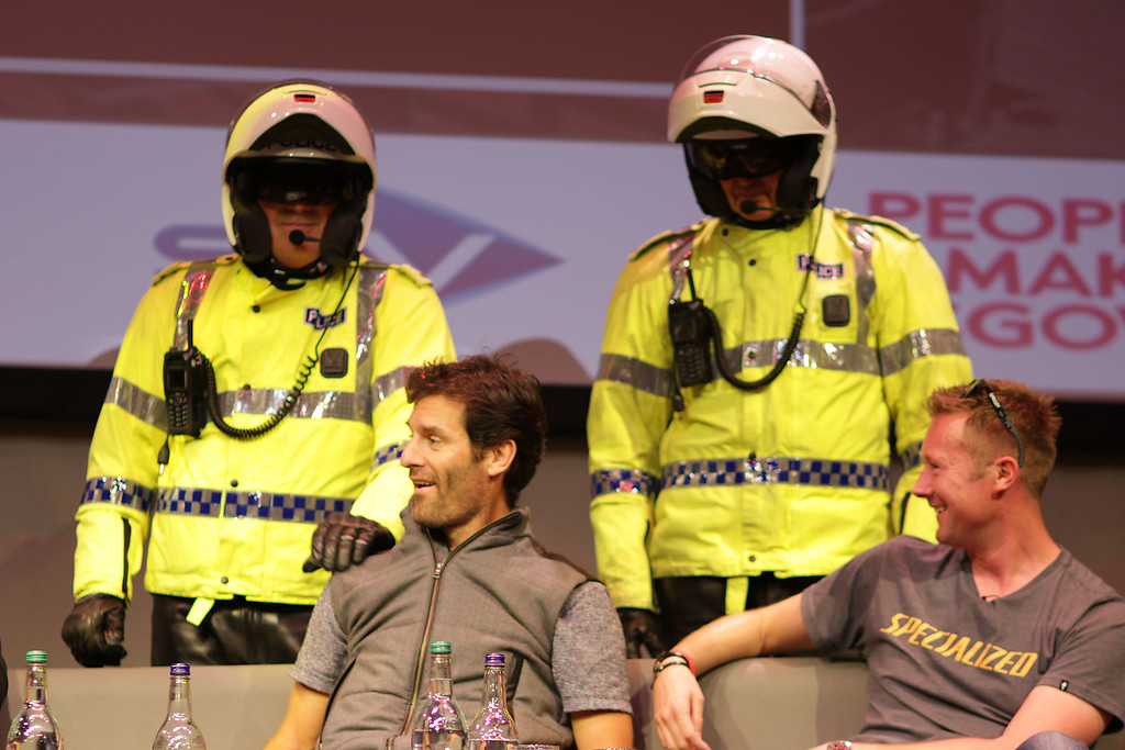 Mark Webber feels the long arm of the law