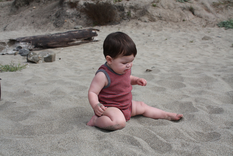 First time in the sand