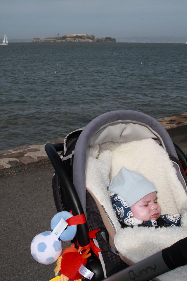 Ilan enjoying the view of Alcatraz