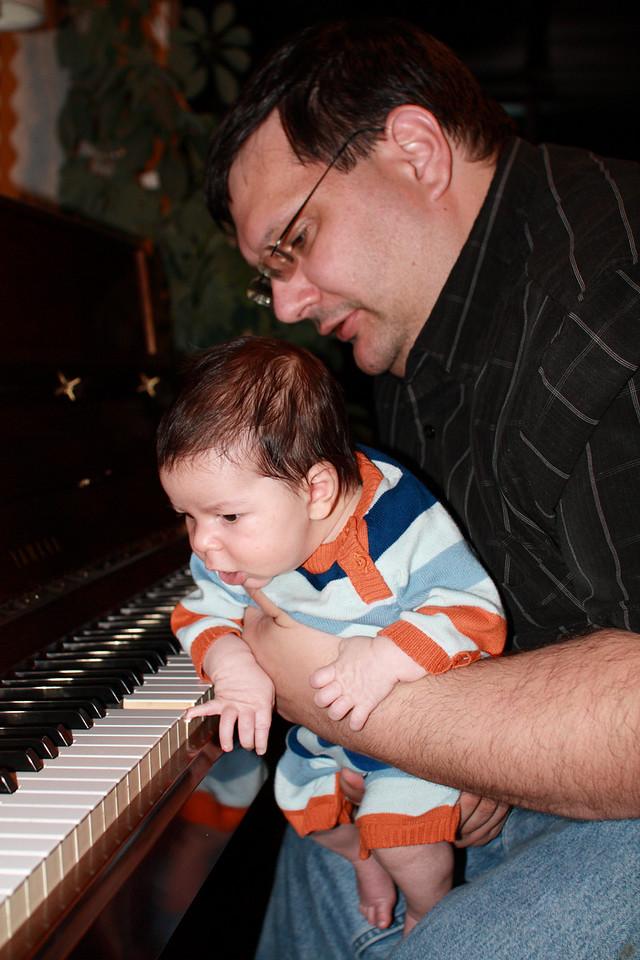 Ilan now plays piano