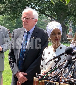 Sanders, Ocasio-Cortez, Omar, and Jayapal at Student Debt Press Conference in Washington, DC