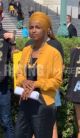 Ilhan Omar at Jobs Bill Presser in Washington, DC