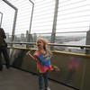 Enjoying the wind up in the Space Needle