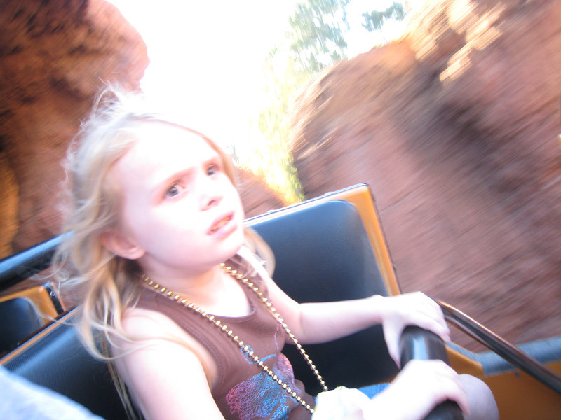 She loves this ride, because it scares her I think.