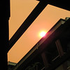 This is what the sky looked like from the courtyard of our hotel because of the fires in the area.