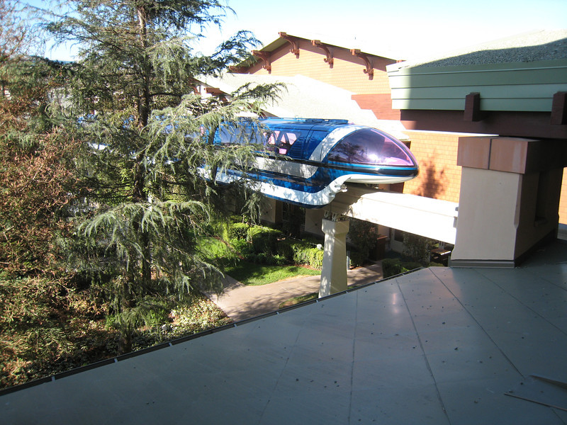 The monorail streaking by our room.  If the balcony door was closed you couldn't hear the monorail at all.