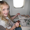 On the plane on the way to Disneyland