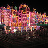 Small world all lit up for christmas.