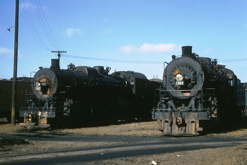 ICRR 50 - Jan 29 1958 - 2 8 2's no  1521 & no  1583 at Carbondale ILL