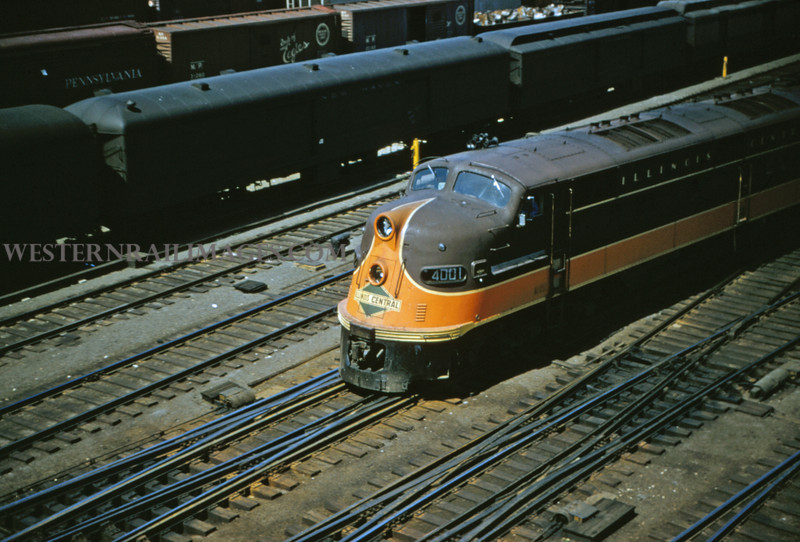 ICRR 24 - May 19 1956 - Eng 4001 on No 201 leaving union station St Louis MO