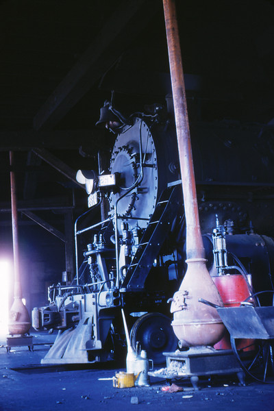 ICRR 18 - Mar 6 1955 - 4 8 2 No 2614 in roundhouse @ E  St Louis ILL