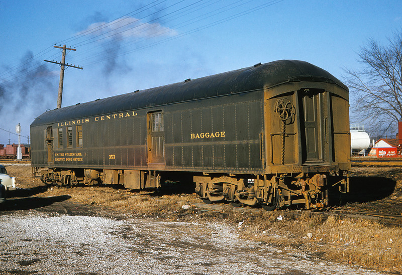 ICRR 59 - Jan 29 1958 - RPO Baggage Car 353 at Carbondale ILL
