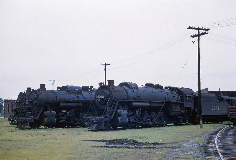 ICRR 61 - Jun 18 1958 - Steam Locomotives at Carbondale ILL