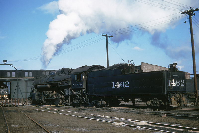 ICRR 54 - Jan 29 1958 - 2 8 2 no  1462 at roundhouse Carbondale ILL