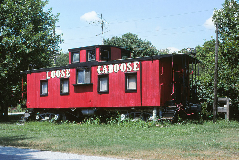 ICRR 104 - Aug 1 1997 - Caboose on old line Grand Tower ILL