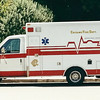 Ambulance at Warner Brothers Studio, California in the year 2000. Lettered for Chicago Fire Department for TV productions