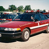 X Battalion 6 A-406<br /> 1996 Ford Crown Victoria<br /> Photographed 1996