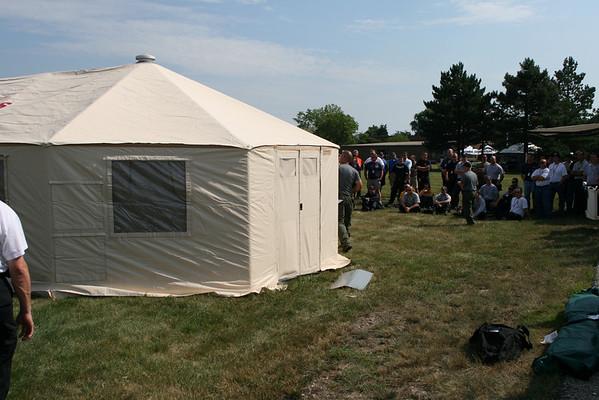 Illinois Mabas Training Day At Nipsta Tent City Set up
