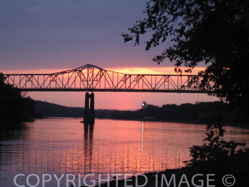 Sunset at the IL Rt. 178 bridge at Starved Rock