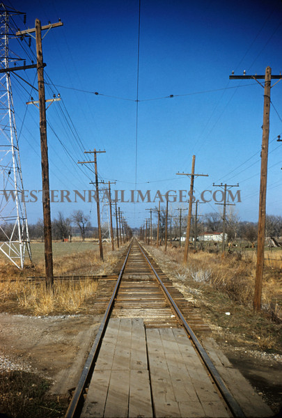 ITS 167 - Mar 20 1956 - electric mainline crossing highway between Mitchell & Edwardsville ILL