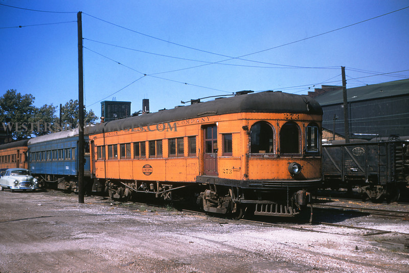 ITS 64 - Aug 23 1955 - Car 273 in yards at Granite City ILL