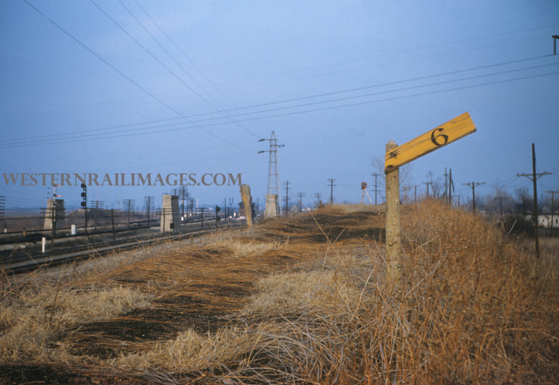 ITS 94 - Dec 8 1955 - scene on abandoned Alton line Mitchell ILL