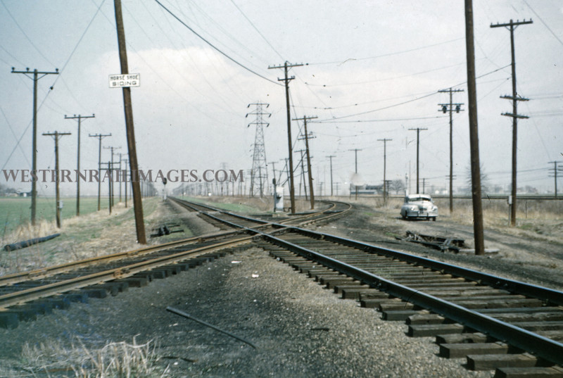 ITS 192 - Mar 27 1956 - looking N at Horseshoe Siding 2 mi N of Granite City ILL
