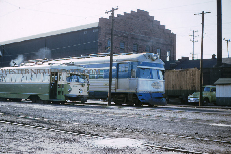 ITS 157 - Mar 9 1956 - Cars 450 & 300 in yard @ Granite City ILL
