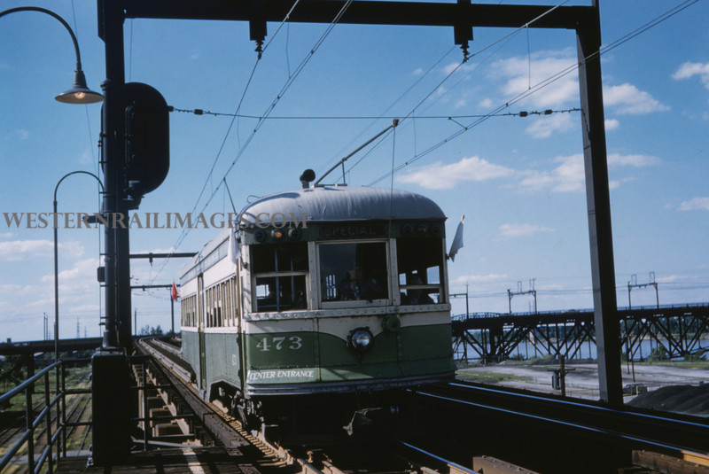 ITS 230 - Jun 21 1958 - Car 473 on fantrip @ Blanton - St Louis MO