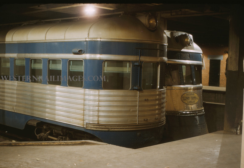 ITS 147 - Mar 4 1956 - Motors 350 & 302 in 12th street terminal St Louis MO