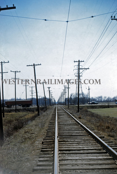 ITS 168 - Mar 20 1956 - looking south at hwy 111 crossing between Granite City & Edwardsville ILL