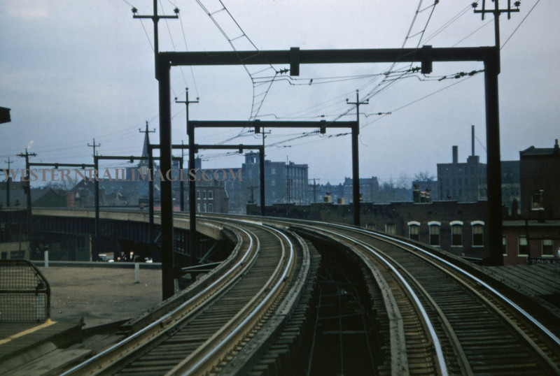 ITS 210 - Feb 22 1957 - looking west on high line at broadway St Louis MO
