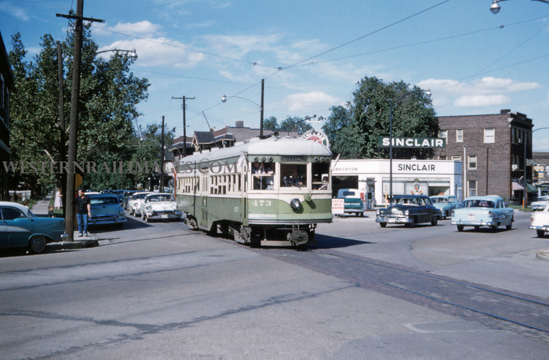 ITS 222 - Jun 21 1958 - Car 473 at State & Niedringhaus last day run - Granite City ILL