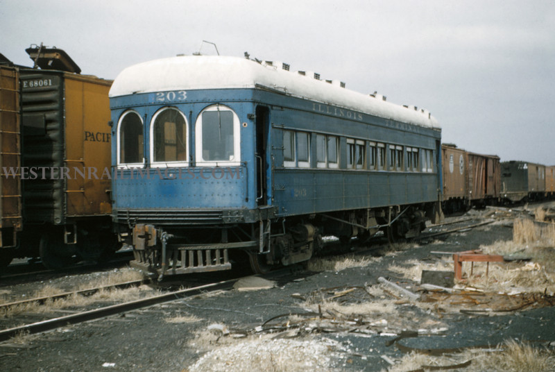 ITS 191 - Mar 27 1956 - Car 203 awaiting scrap in Lang Yards ILL