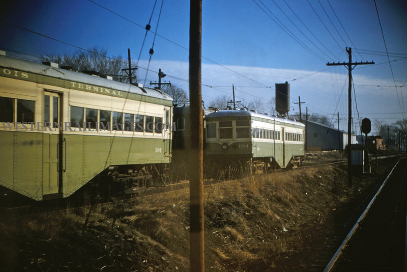 ITS 30 - Jan 2 1955 - Ex Alton cars 101 & 104 at Edwardsville ILL