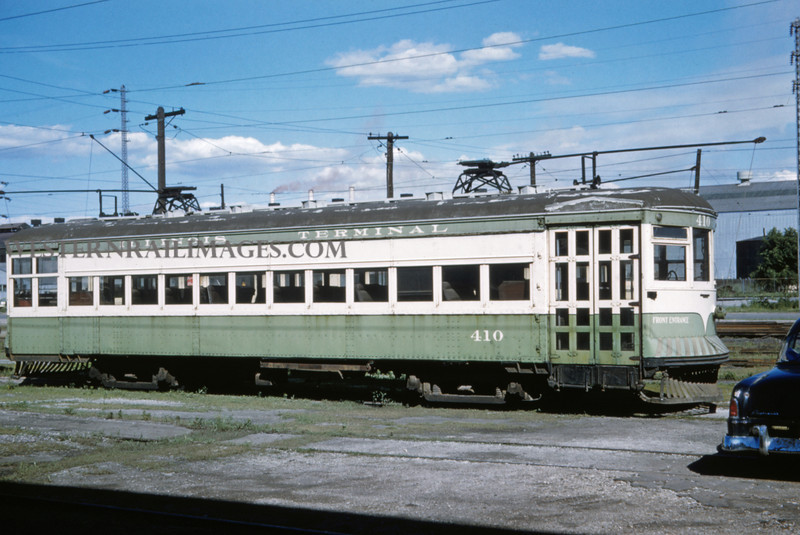 ITS 226 - June 21 1958 - car 410 at 17th @ Madison yard - Granite City ILL