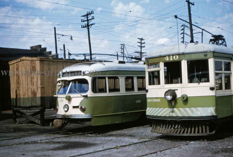 ITS 18 - Sep 19 1954 - Car 410 & 455 @ Granite City ILL