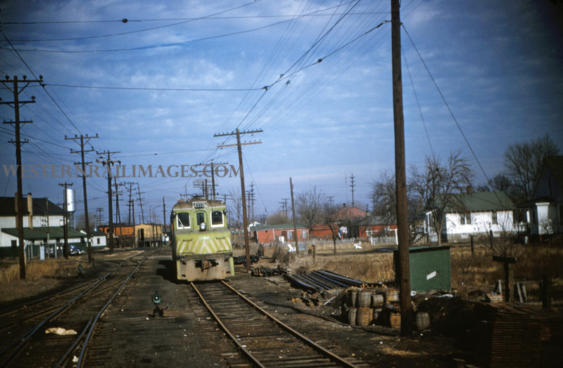 ITS 35 - Jan 2 1955 - trolley motor No 71 in yards @ Springfield ILL