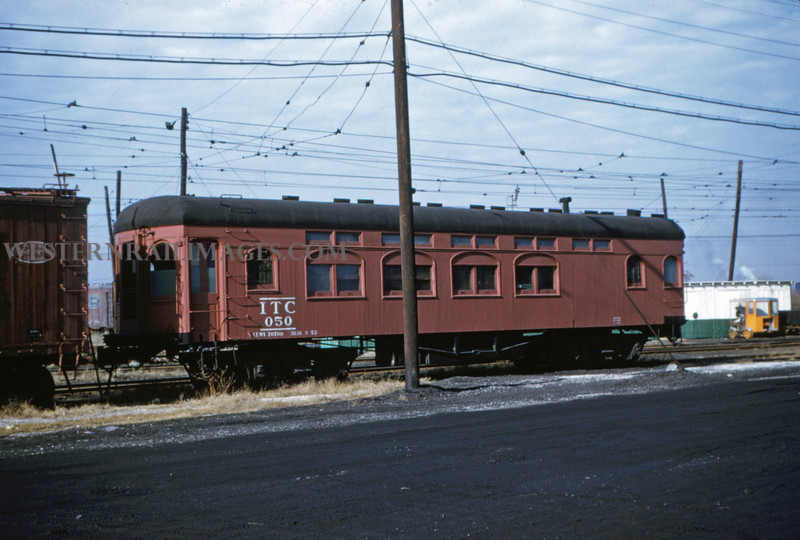 ITS 46 - Jan 2 1955 - Car 050 former passenger car now worker - Springfield ILL