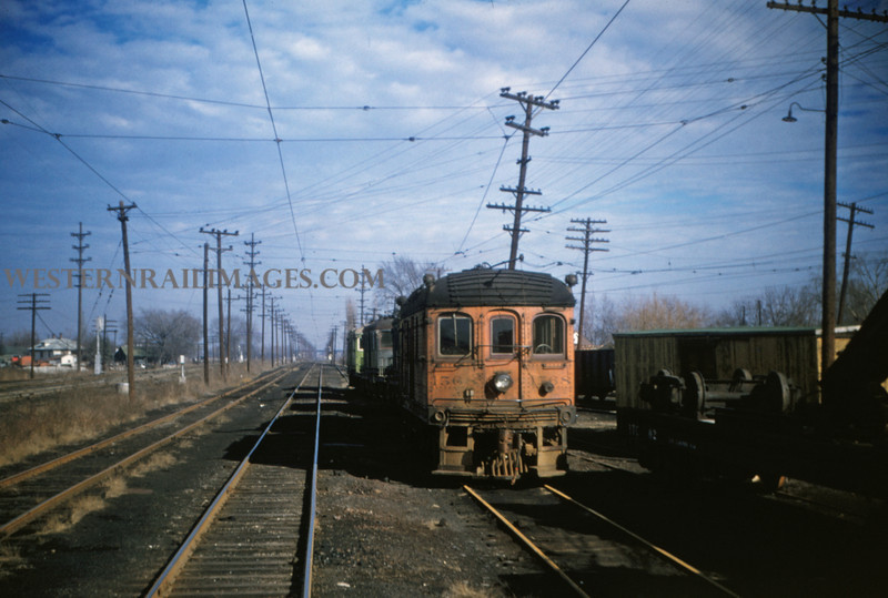 ITS 50 - Jan 2 1955 - trolley switcher 156 @ Springfield ILL