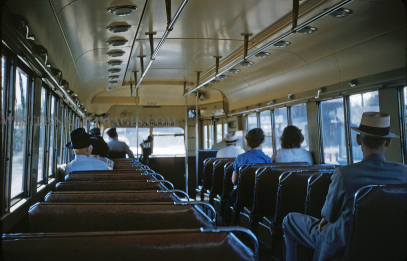 ITS 89 - Sep 11 1955 - interior of PCC car 452 on Granite City ILL