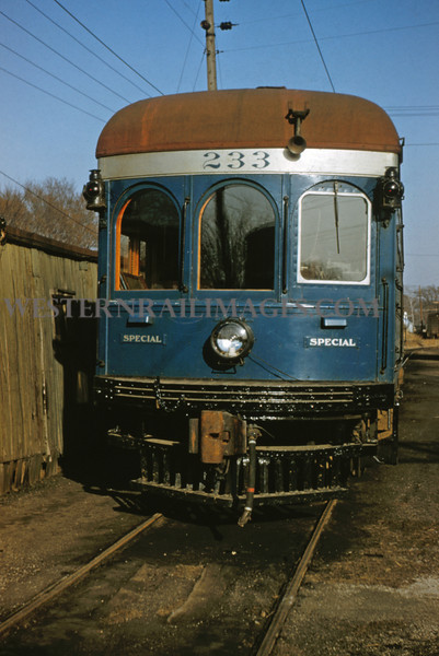 ITS 161 - Mar 9 1956 - front end of official car 233 @ Edwardsville ILL