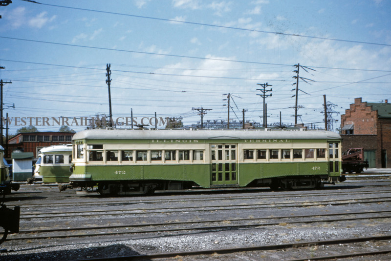 ITS 6 - Sep 19 1954 - granite city local car 472 in yards @ Granite City ILL