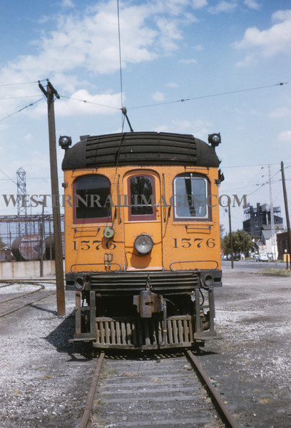 ITS 3 - Sep 19 1954 - trolley switcher No 1576 built by ITS decater shops - Granite City ILL
