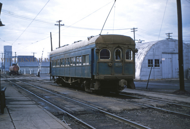 ITS 57 - Jan 2 1955 - Car 203 headed toward Decatur - Champaign ILL