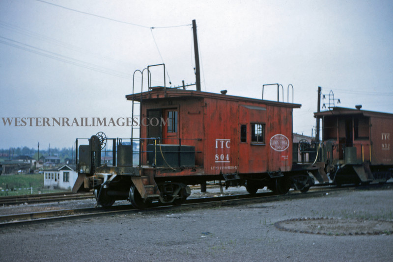 ITS 201 - May 1 1956 - old caboose 804 at Lang ILL