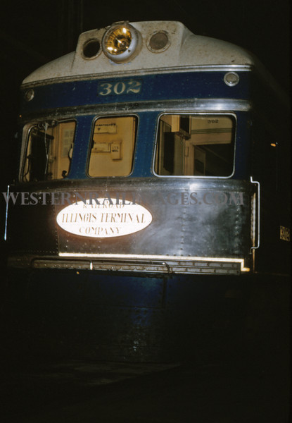 ITS 25 - Oct 24 1954 - front end of car 302 - St Louis MO
