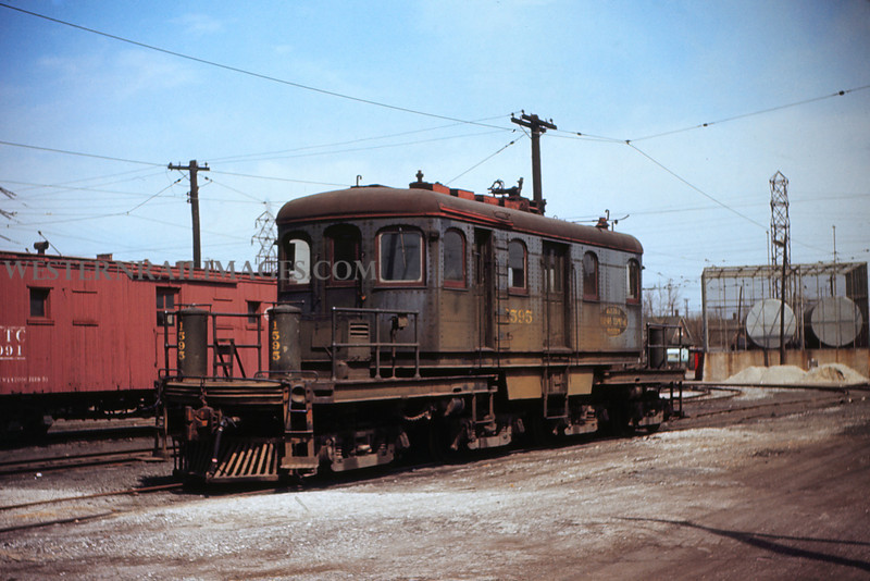 ITS 177 - Mar 27 1956 - Trolley Motor 1595 at Granite City ILL