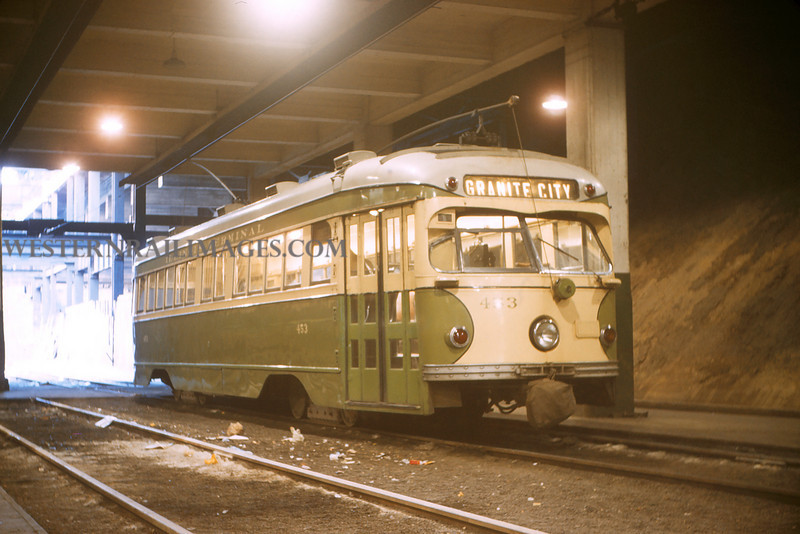 ITS 146 - Mar 4 1956 - Car 453 in 12th St terminal St Louis MO
